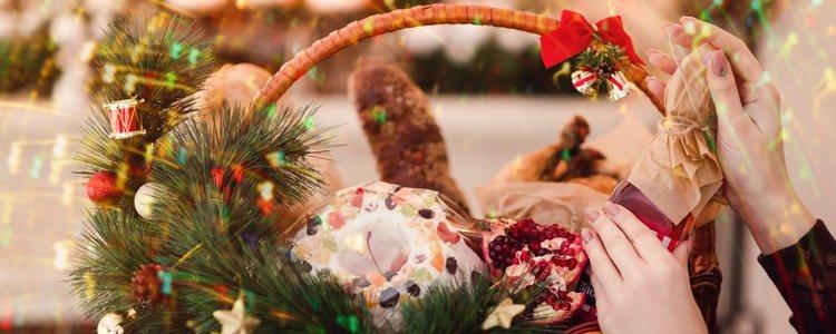 Las cestas de Navidad se utilizan para desear felices fiestas