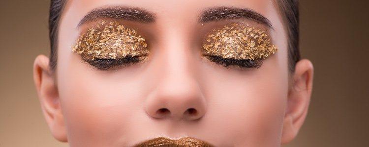 El 'pan de oro' es indicado para hacer un maquillaje lleno de brillo
