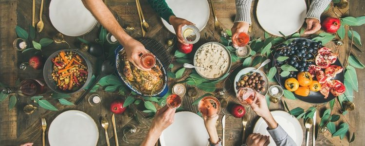 Es importante planificarse un calendario de comidas durante estas fechas