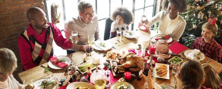 Hay que tener cuidado y moderarse en todas las comidas de Navidad