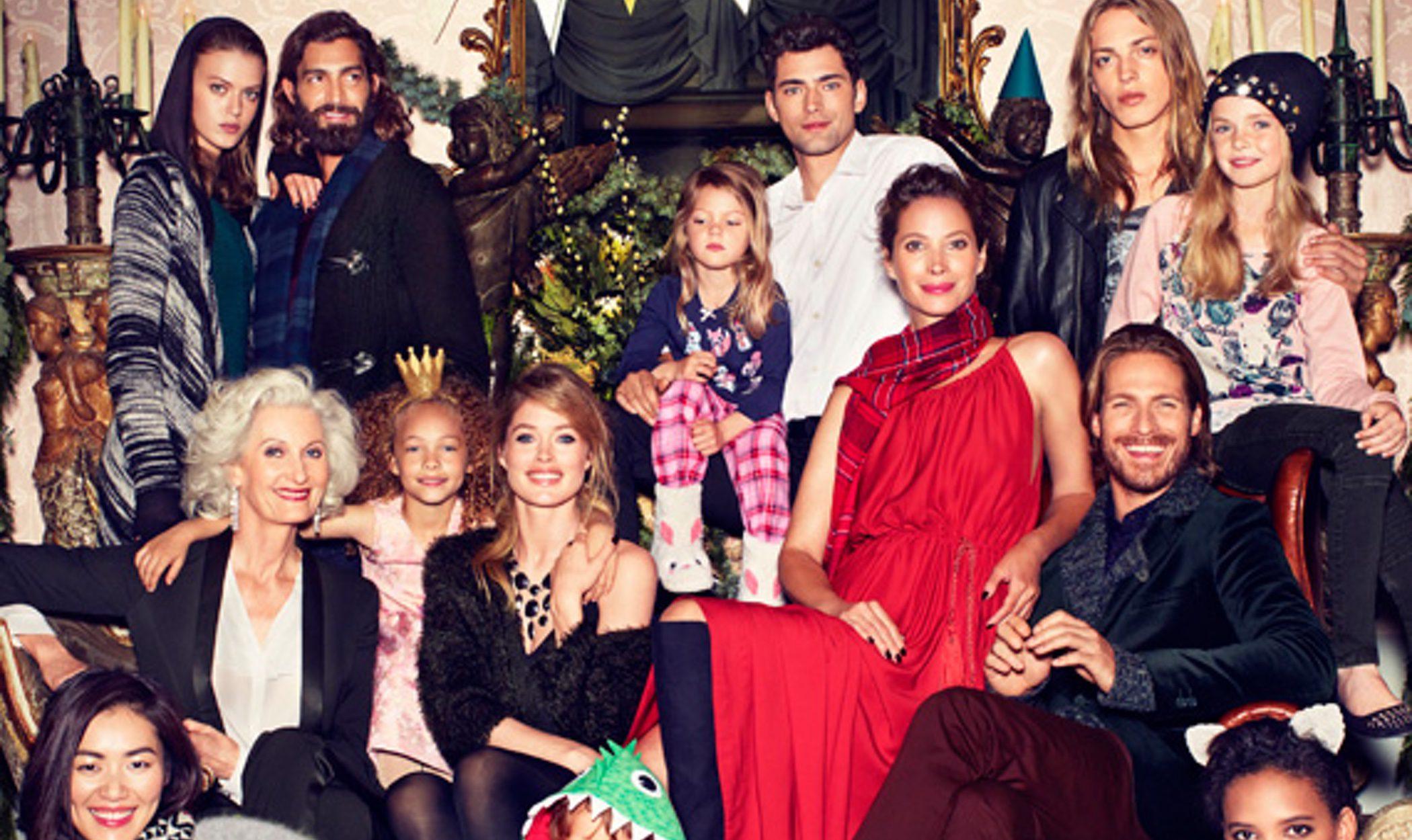 Doutzen Kroes, Christy Turlington y Sean O'Pry presentan la campaña de navidad más divertida de H&M