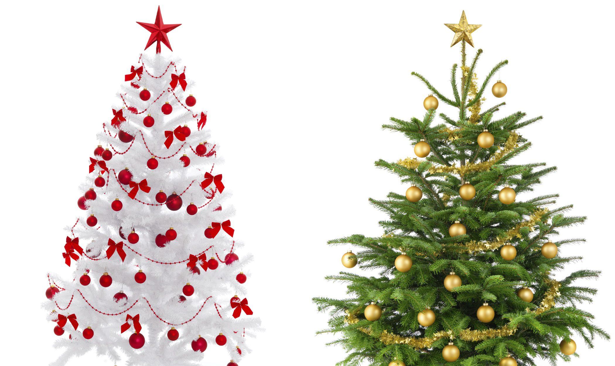 Árboles de Navidad blancos: una alternativa al verde