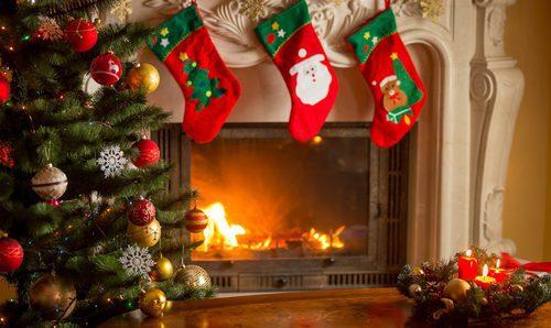 Como Decorar Calcetines Para Navidad.Como Decorar La Chimenea En Navidad Bekia Navidad