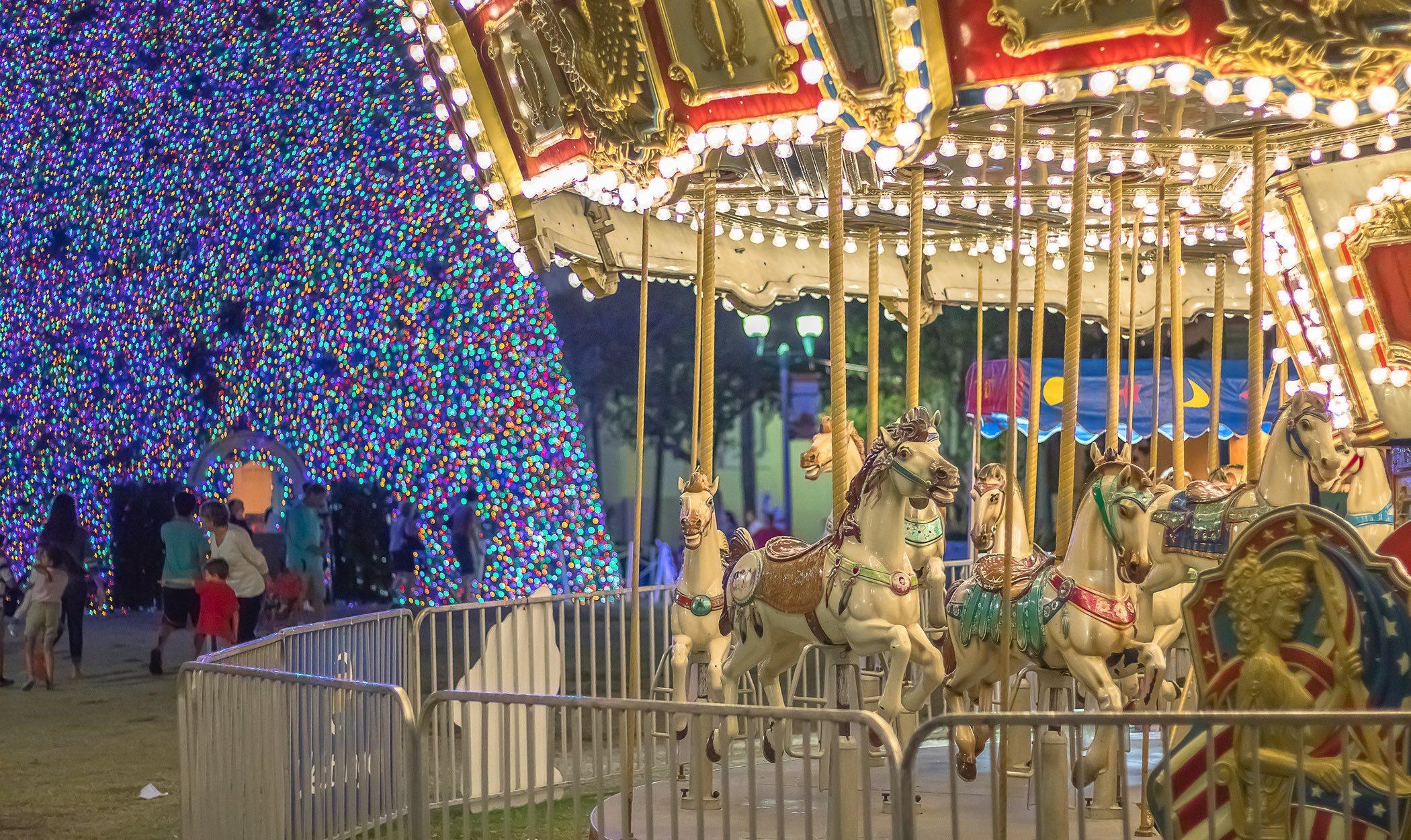Navidad en los parques de atracciones
