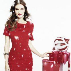 Vestido rojo de la colección de Blanco para esta Navidad 2011