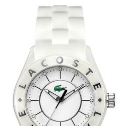 Reloj de mujer con correa de silicona en color blanco de Lacoste Watches
