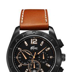 Reloj masculino en acero con correa de piel marrón de Lacoste Watches