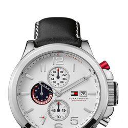 Reloj para hombre con correa de piel negra de Tommy Hilfiger Watches