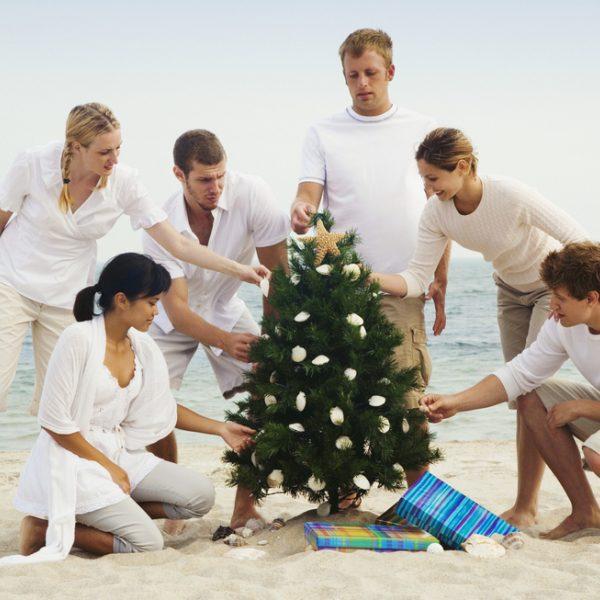 Celebración de la Navidad en verano