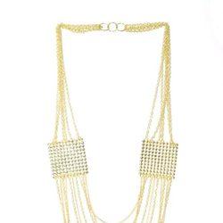 Collar largo de varias piezas dorado de Meigallo para esta Navidad 2012