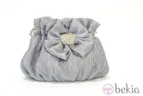 Bolso de fiesta color perla de Meigallo para estas navidades 2012