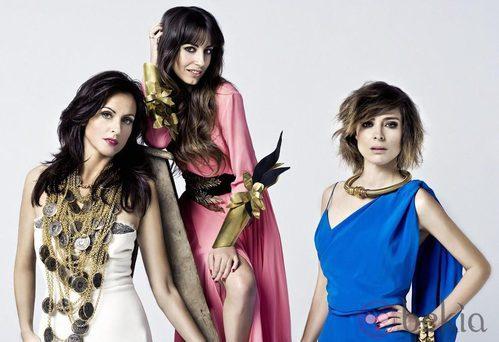 Almudena Cid, Sandra Barneda y Helena Barquilla en el Christmas 2012 de Maybelline NY