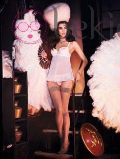 Laura Sanchez con un modelo de Yamamay para estas navidades 2012