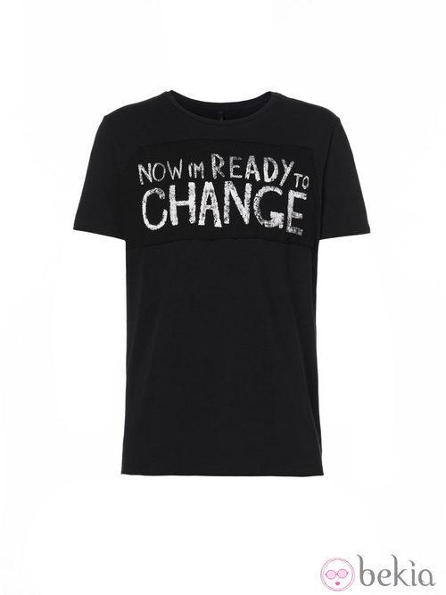 Camiseta negra de la colección Navidad 2013 de Benetton