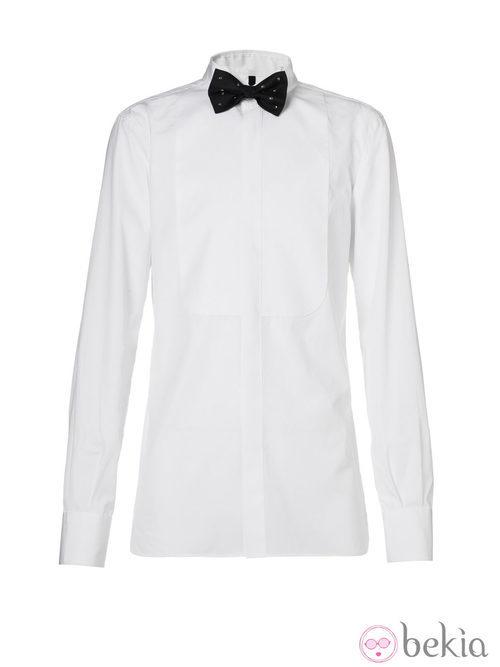 Camisa con pajarita de la colección Navidad 2013 de Benetton