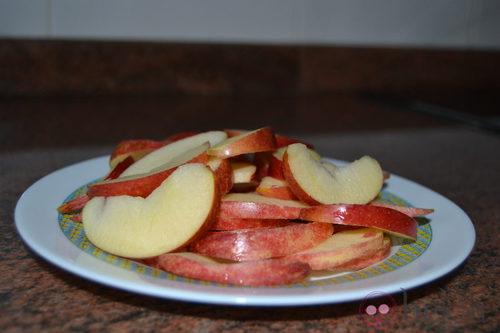 Trocear las manzanas
