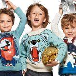 Jerséis con motivos de navidad, en moda infantil, de la nueva campaña navideña 2014 de H&M