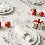 Blanco para decorar la mesa de Navidad