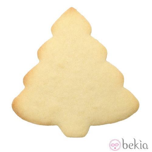 Galletas de mantequilla con forma de árbol de Navidad