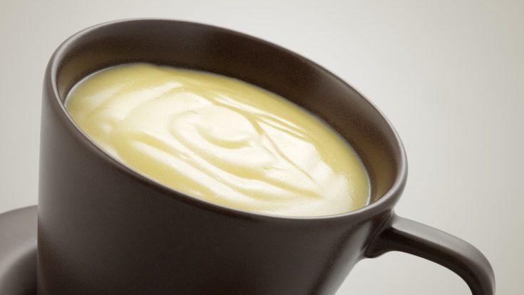 Receta de crema de chocolate blanco: postre de Navidad