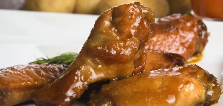 Pollo troceado con miel y mostaza