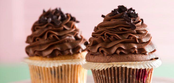 Cupcake con chocolate
