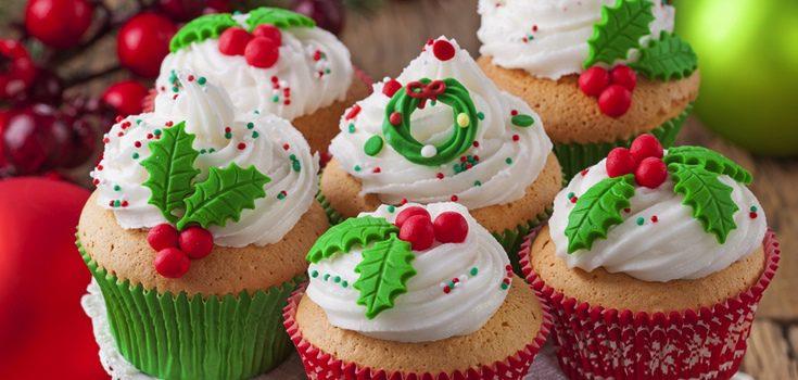 Cupcakes decorados especiamente para Navidad