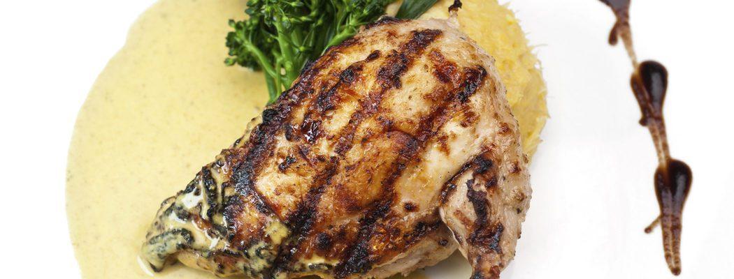 Aves de Navidad: Pollo asado con miel y mostaza