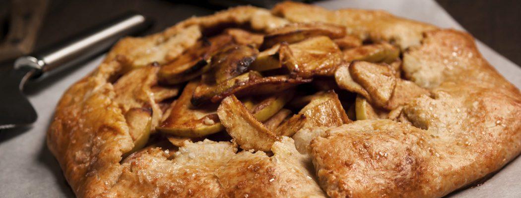 Receta de pastel de manzana con mantequilla salada