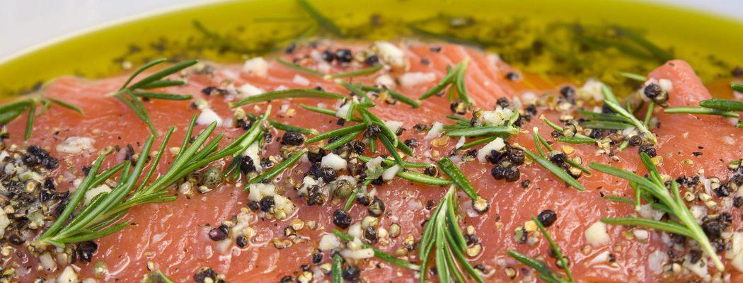 Entrantes de Navidad: Salmón marinado con cítricos